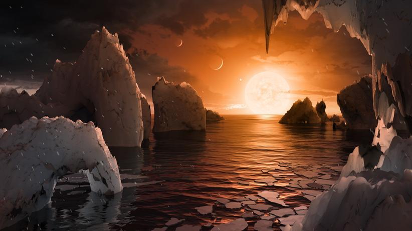 Sonnensystem TRAPPIST-1f Planeten Exoplaneten Universum