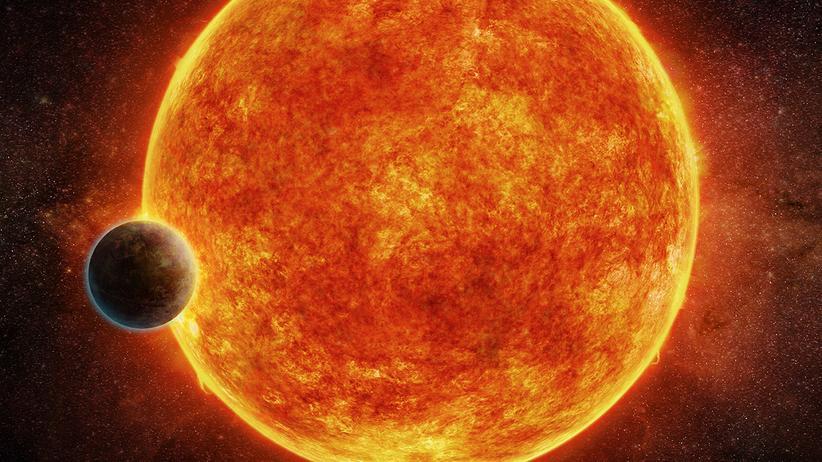 Exoplanet LHS 1140b: Eine künstlerische Darstellung des Exoplaneten LHS 1140b