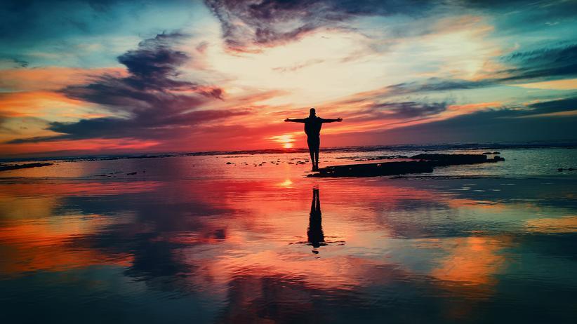 Psychologie Schönheit Reflex Sonnenuntergang