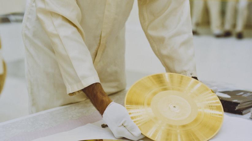 Voyager 1 Sonde Weltraum Goldene Schallplatte