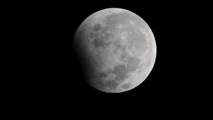 Mondfinsternis: Irgendwie angefressen heute, der Mond