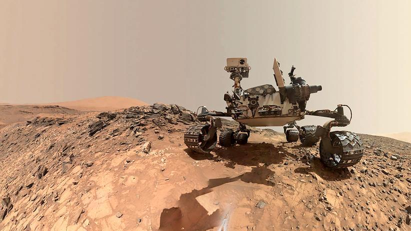 Astronomie: Selbstporträt des Nasa-Rovers Curiosity bei einer Erkundung auf dem Mars.