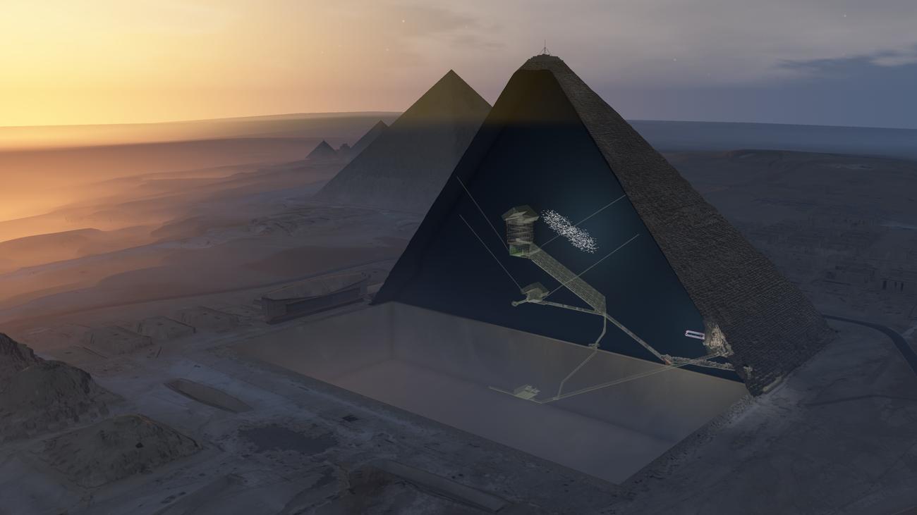 Kosmische Strahlung: Forscher röntgen Cheops-Pyramide