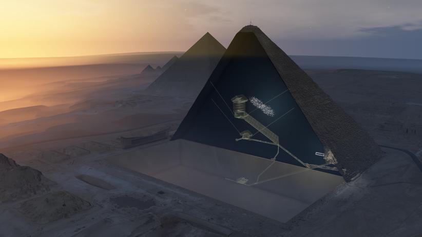 Ägypten: Forscher entdecken riesigen Hohlraum in der Cheops-Pyramide