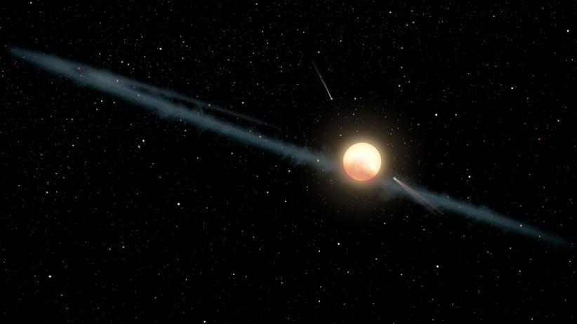 Milchstraße: Daten neuester Studien deuten darauf hin, dass extrem feiner Staub das Licht von Tabbys Stern flackern lässt.