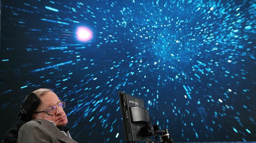 Stephen Hawking: Stephen Hawking während eines Vortrags 2016 in New York City