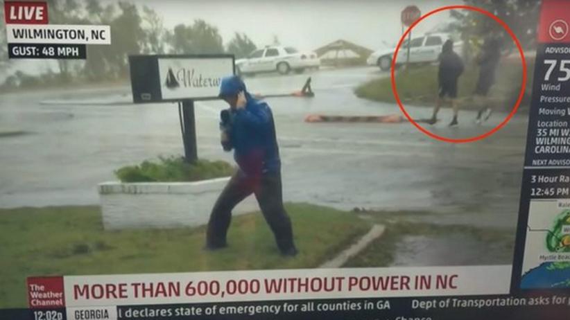 Hurrikan Florence : Der mit dem Sturm tanzt