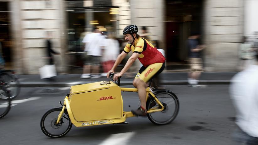 Paketdienste: Paketdienste arbeiten auch mit Lastenrädern.