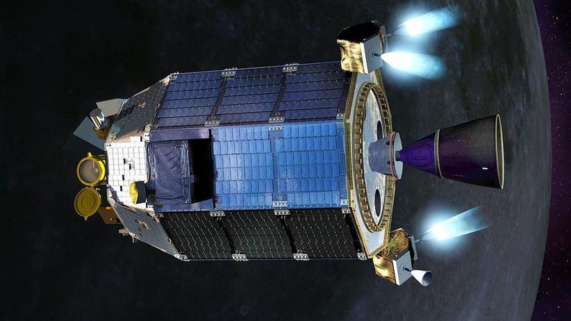 Chandrayaan-2: Ein Jahr lang soll der Chandrayaan-2-Mondorbiter in Betrieb sein. (künstlerische Darstellung)