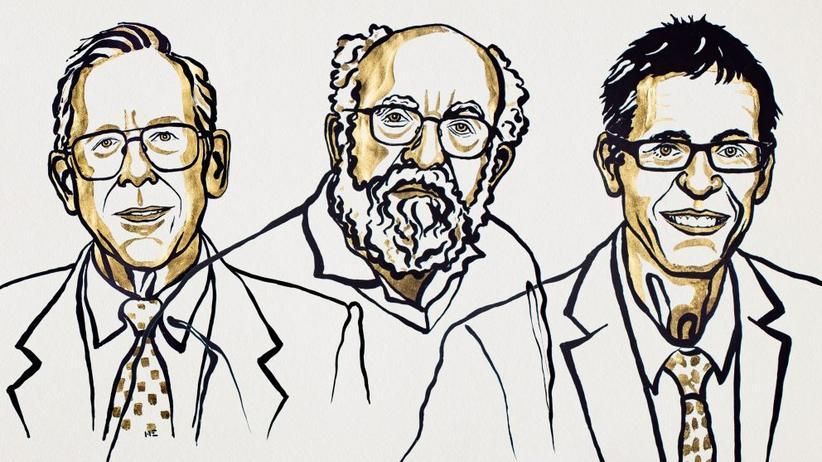 Physik-Nobelpreis: Von links: James Peebles, Michel Mayor und Didier Queloz