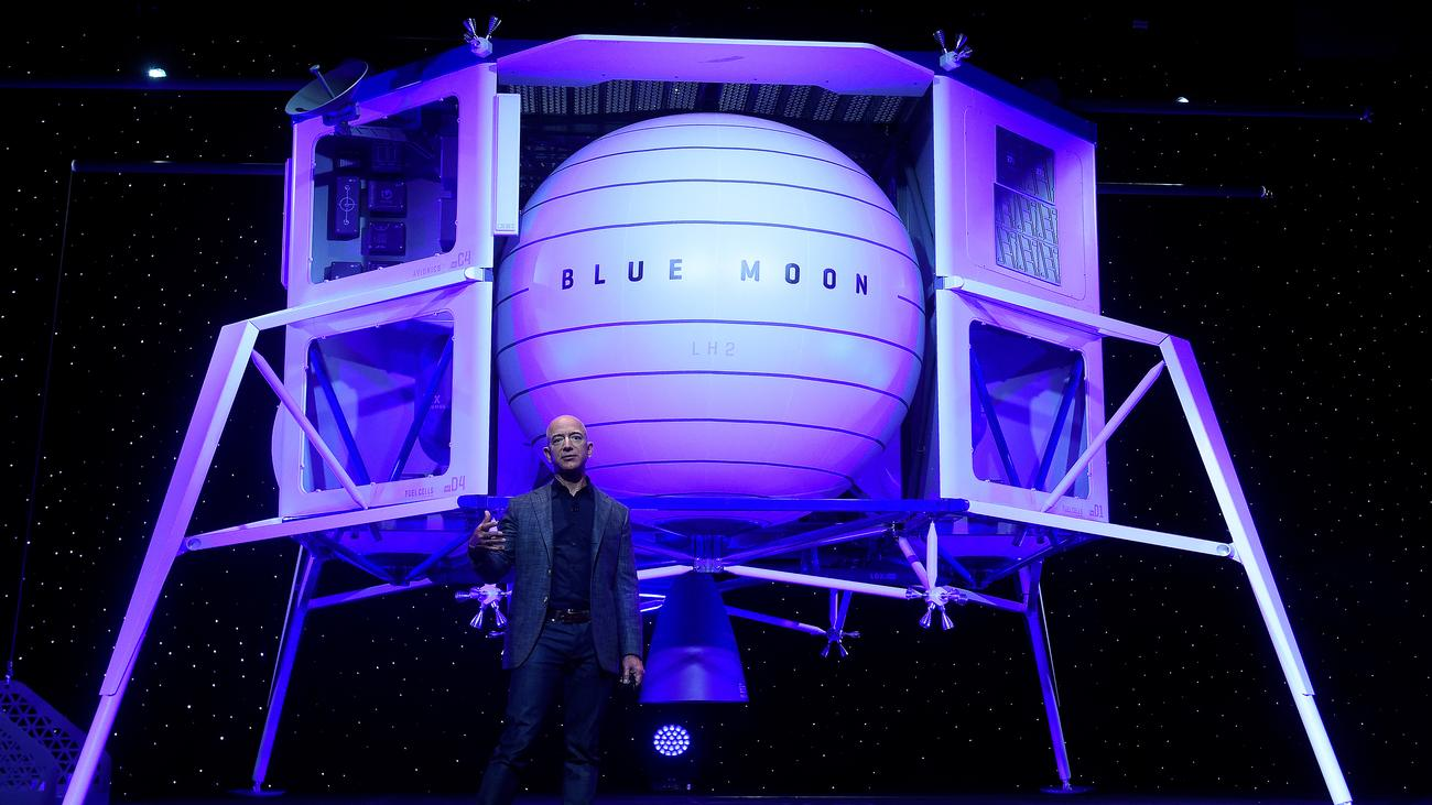 Raumfahrt: Jeff Bezos sucht sich Partner für Mondlandefähren-Projekt