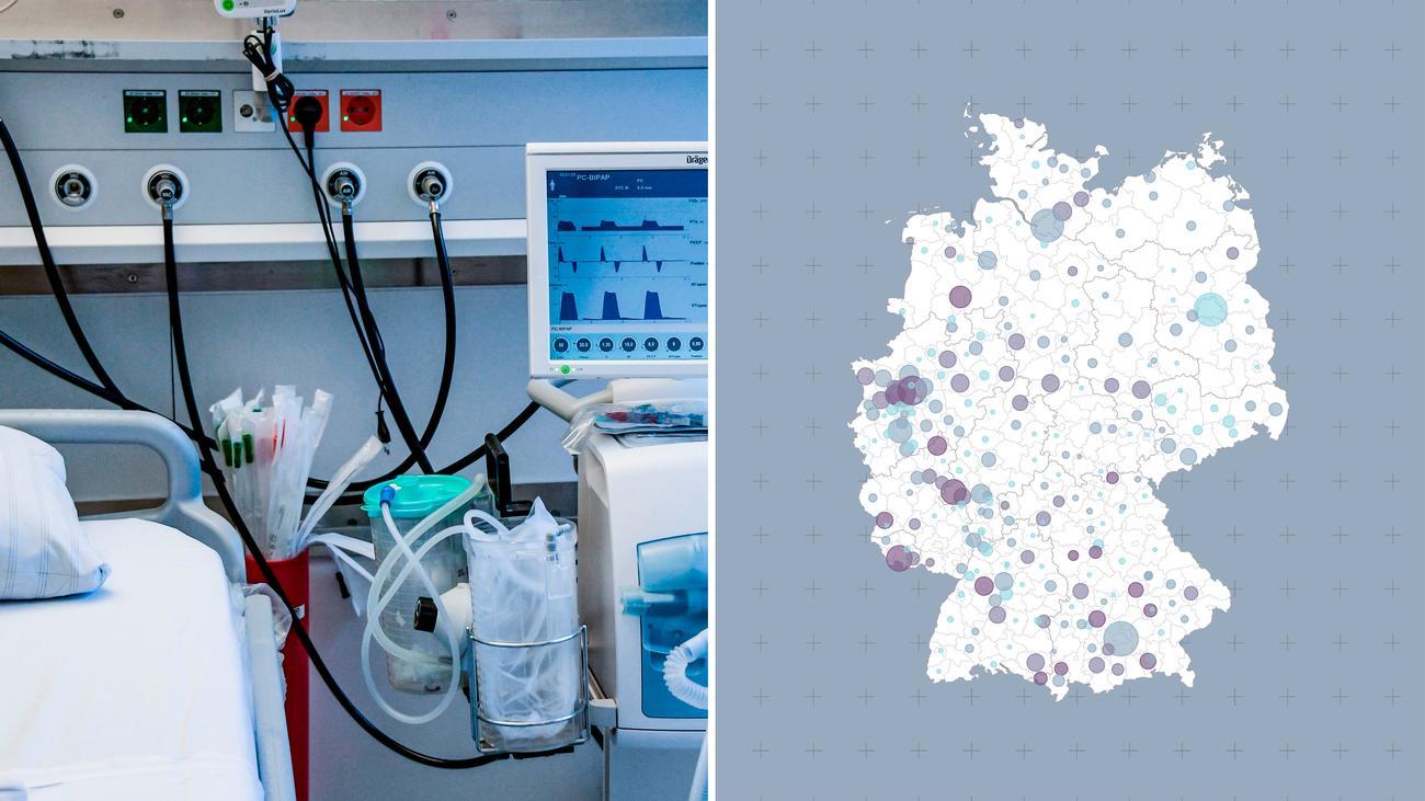 Zahl der Covid-19-Patienten: Wie viele Intensivbetten gibt es in meiner Region?
