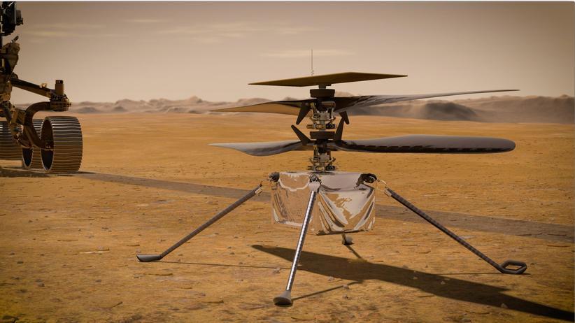 Mars-Helikopter Ingenuity: Nicht schlecht für eine fliegende Zigarrenschachtel