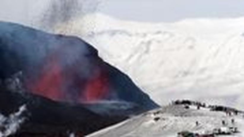 Eyjafjalla-Gletscher Island Vulkan Ausbruch Eyjafjöll