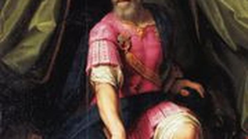 Lebensbild eines Monarchen: Henri Quatre in Heldenpose auf einem Gemälde von Ambroise Dubois (um 1600)