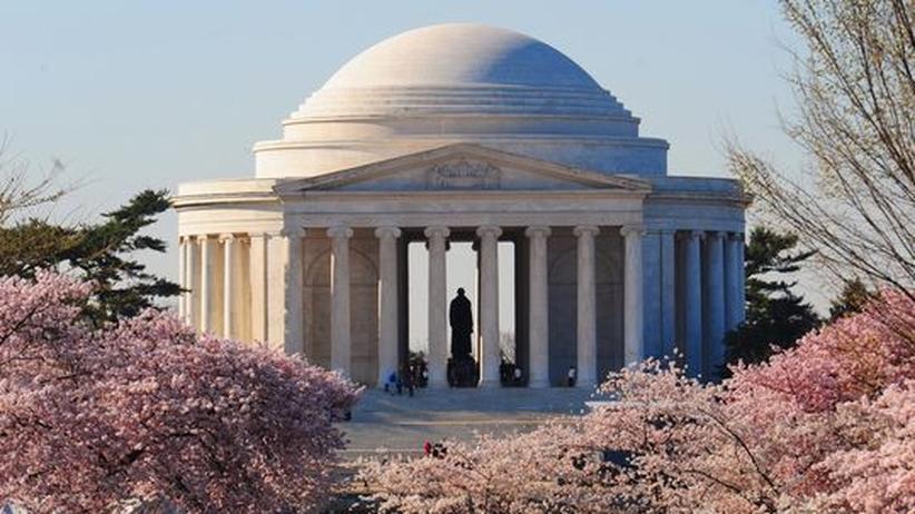 US-Geschichtsunterricht: 1943 bauten die Amerikaner ihrem Gründungsvater Thomas Jefferson in Washington dieses Denkmal. Lange her