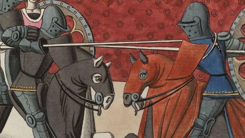 Zwei Ritter kämpfen Richter Ladies