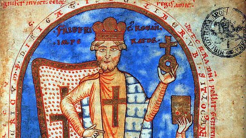 Miniatur des Heiligen Kaisers Friedrich Barbarossa