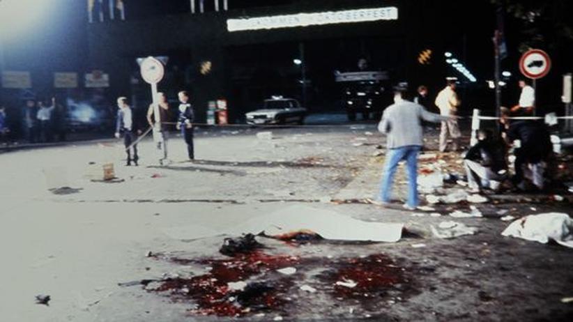 Tatort nach dem Münchner Oktoberfest-Attentat 1980
