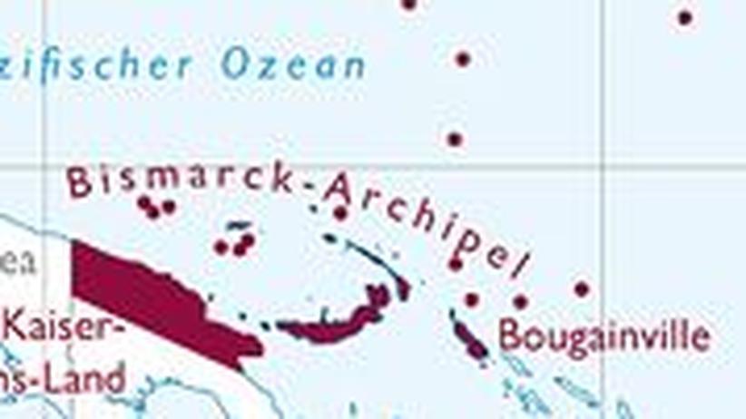 Die deutsche Südsee um 1900: Klicken Sie auf das Bild, um die Karte zu öffnen