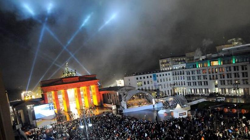 Feierlichkeiten am Brandenburger Tor zum 20 jährigen Jubiläum des Falls der Berliner Mauer