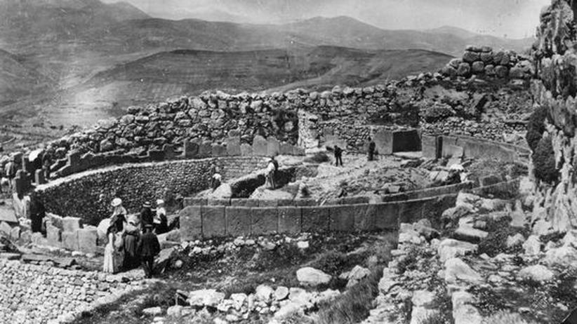 Ausgrabung Heinrich Schliemann Mykene Griechenland