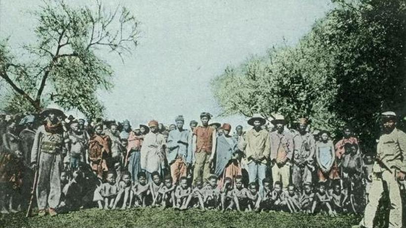 Deutsch-Südwest-Afrika, 1904: Kriegsgefangene des Hererovolkes
