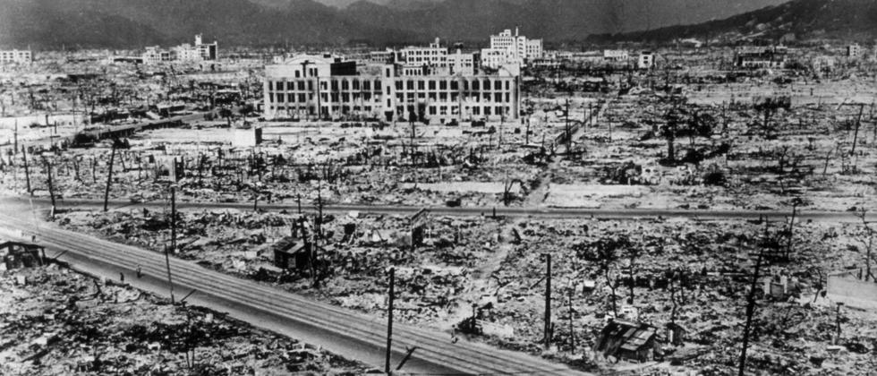 1945: Die zerstörte Stadt Hiroshima in Japan