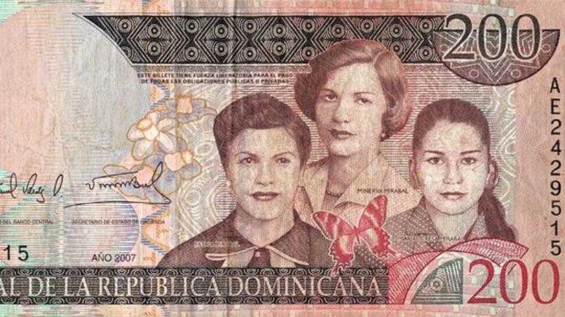 Deckname Schmetterling: Die drei Schwestern Patria, Minerva und Maria Teresa Mirabal (v. l.) gehörten zur Opposition; 1960 ließ Trujillo sie erschlagen. Heute zieren ihre Porträts eine Banknote der Dominikanischen Republik