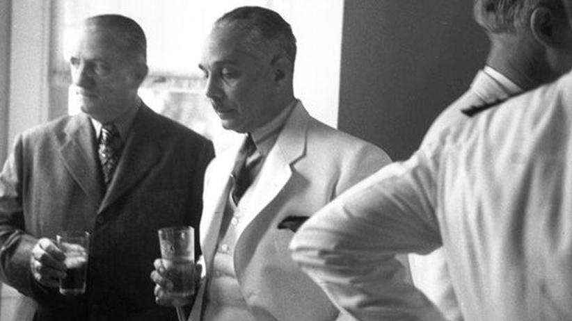 Diktator Rafael Trujillo: Trujillo Molina in den 1950er Jahren auf einem Empfang