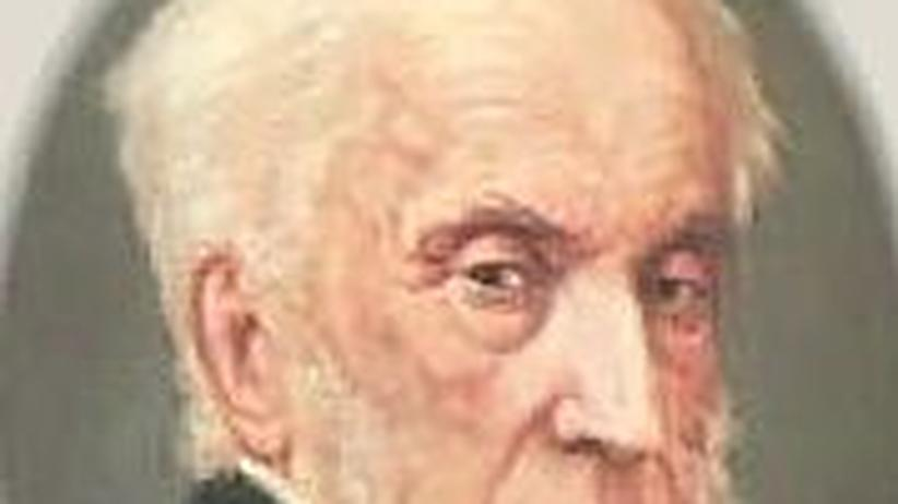 Adam Fürst Czartoryski nach einem Porträt aus den letzten Jahren vor seinem Tod 1861.