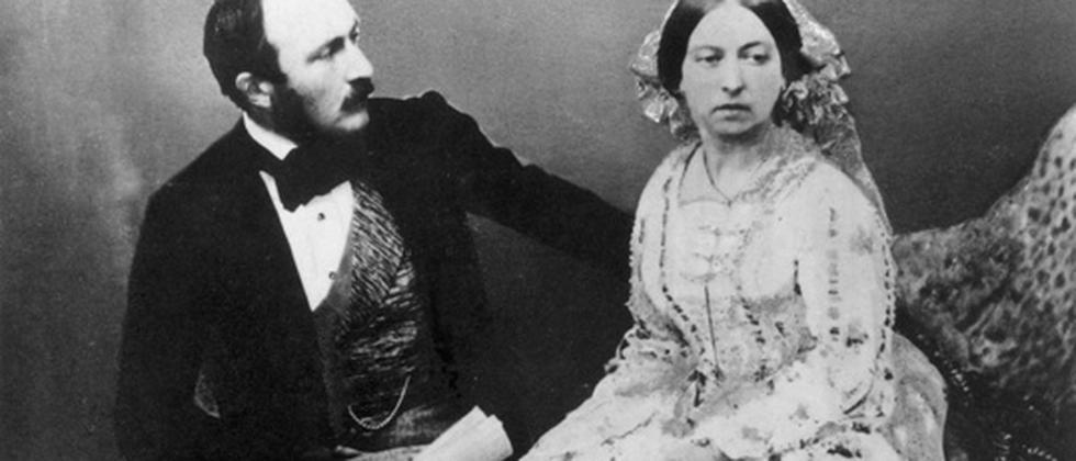 Königin Viktoria und Prinz Albert im Jahr 1854