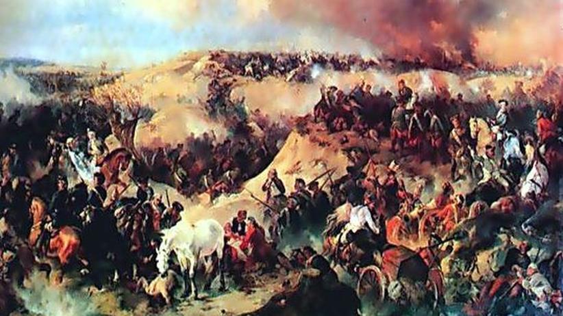 Siebenjähriger Krieg: In der Schlacht von Kunersdorf kämpfte während des Siebenjährigen Krieges die russisch-österreichische gegen die preußische Armee unter Friedrich dem Großen.