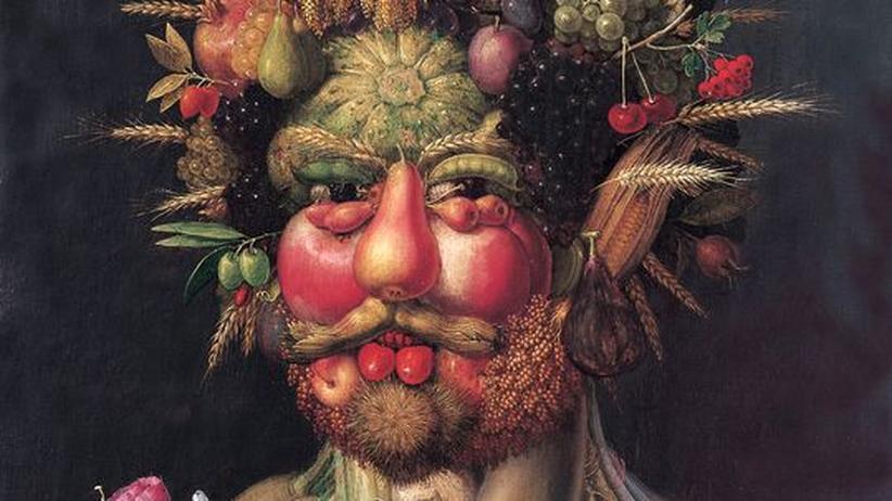1590 malte Arcimboldo Kaiser Rudolf II. als Herrn der Jahreszeiten.