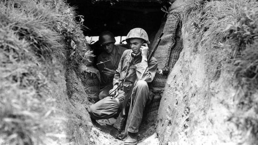 Ein amerikanischer Soldat während des Koreakriegs Anfang der Fünfziger Jahre
