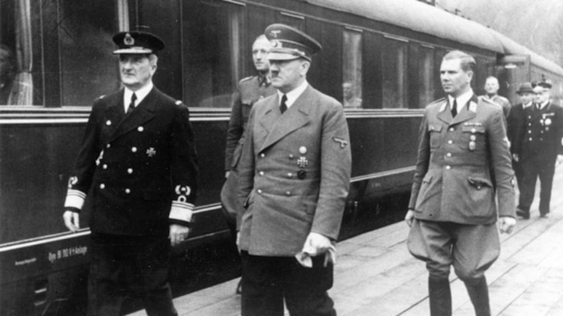 Adolf Hitler mit dem ungarischen Admiral Horthy