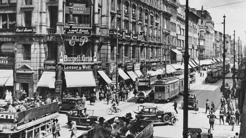 Die Leipziger Strasse in Berlin Mitte der 1920er Jahre