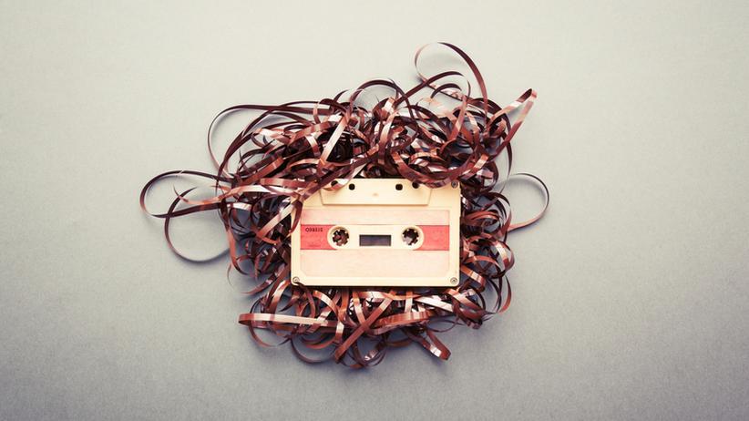 Audikassette Magnetband Kassette Bandsalat