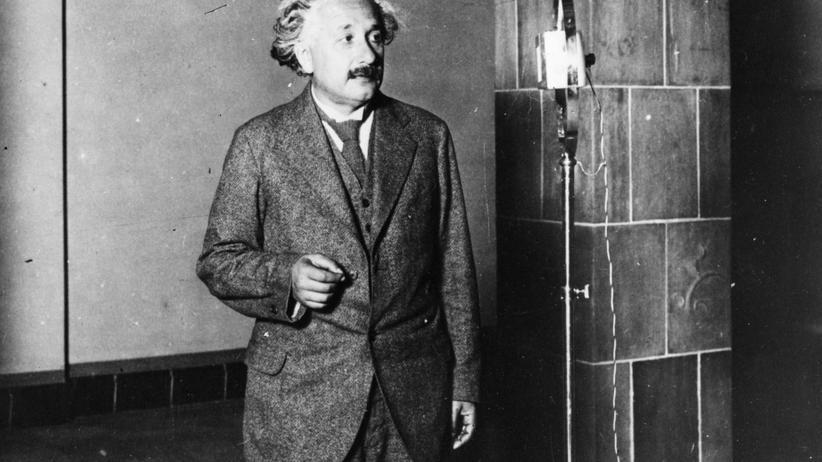 Albert Einstein: Der Physiker Albert Einstein (1879 - 1955) während eines Aufenthalts in den USA 1920.