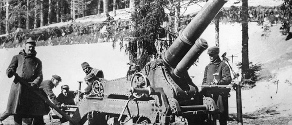 Kanone Waffe Erster Weltkrieg