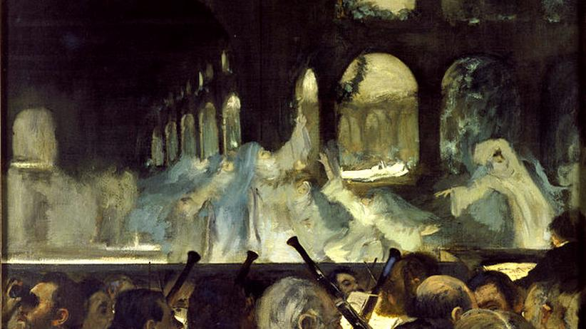 Giacomo Meyerbeer: Edgar Degas: Das Nonnenballett aus der Oper Robert der Teufel (1831) von Meyerbeer, 1876.