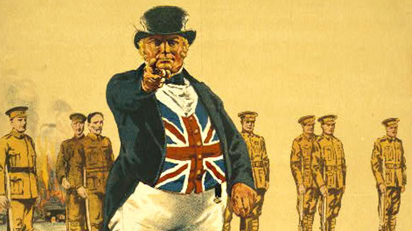 Erster Weltkrieg: Die Pflicht ruft: Ausschnitt aus einem britischen Rekrutierungsplakat von 1915