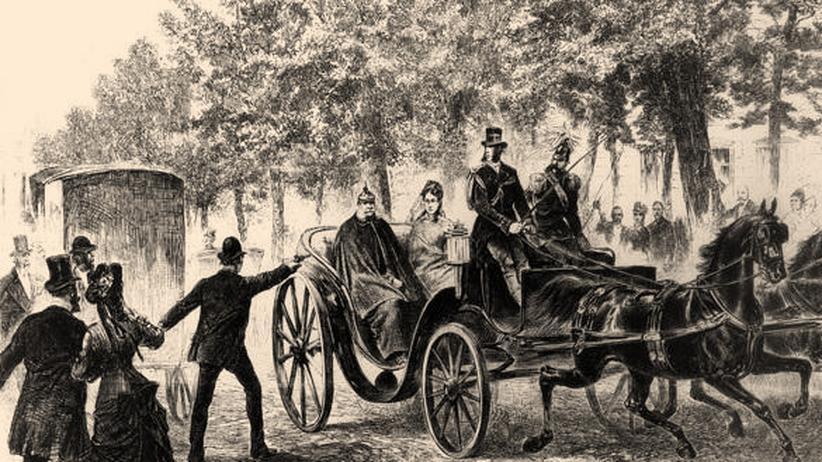 Otto von Bismarck: Das Attentat in einer Zeichnung: Max Hödel schießt auf Kaiser Wilhelm I.
