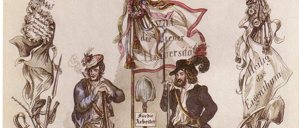 Arbeiter und Student der Akademischen Legion der Wiener Revolution 1848