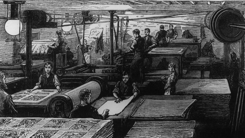 Lügenpresse: 1882: Eine Zeitung im Druck
