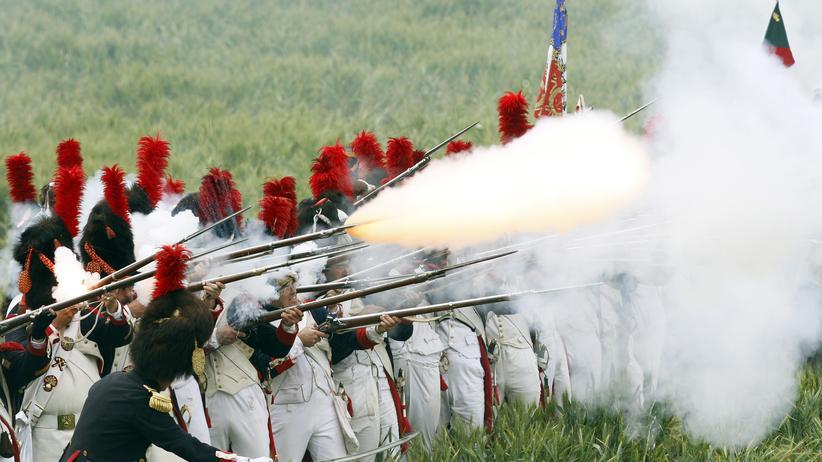Reenactment der Schlacht von Waterloo