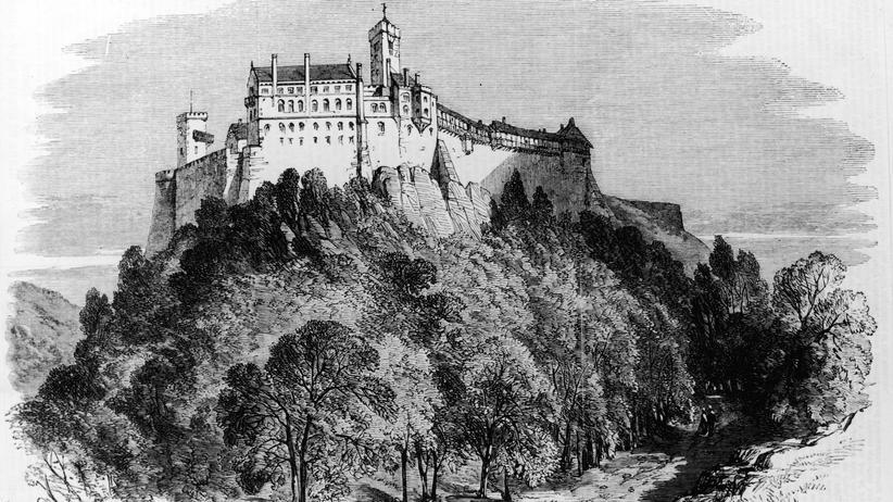 Saul Ascher: Die Wartburg etwa 1521. Im Jahr 1817 fand hier die Bücherverbrennung statt.