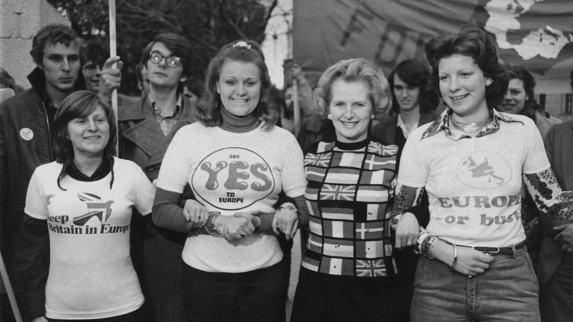 Großbritannien: Die Vorsitzende der Tories, Margaret Thatcher, warb vor rund vierzig Jahren für einen Verbleib in der EG.