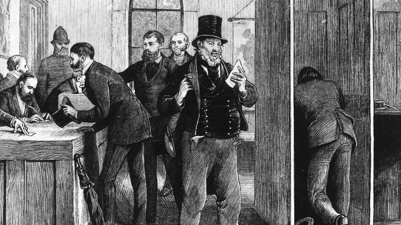 US Wahl: Ein Wähler im Jahr 1873