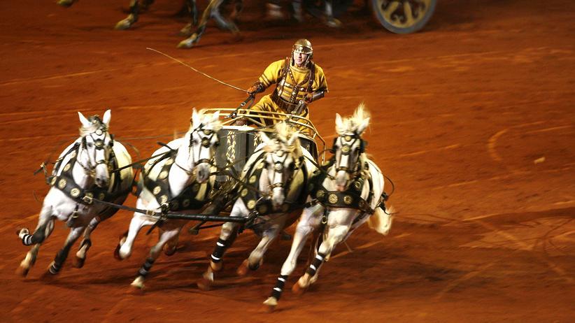 Rennwagen altes Rom Pferde Ben Hur